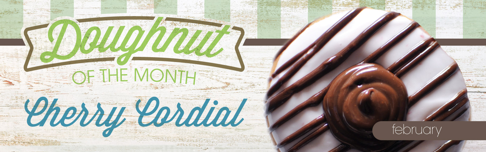 Cherry Cordial Doughnut of the Month