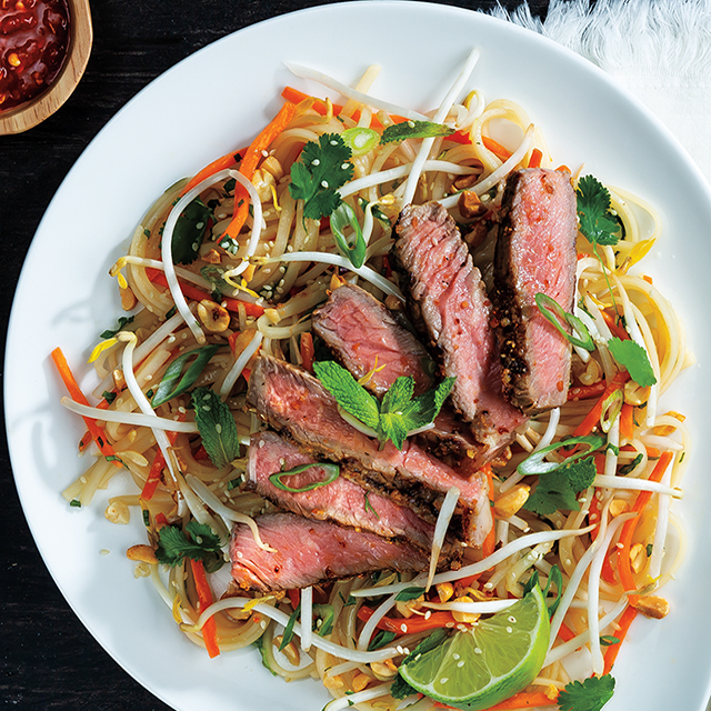 Sweet & Spicy Grilled Ribeye with Vietnamese-Style Noodle Salad
