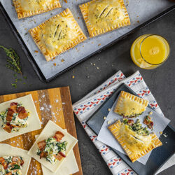 Savory Bacon, Spinach & Artichoke Breakfast Tarts