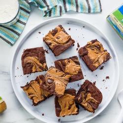 Gluten-Free Almond Butter Swirl Brownies