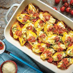Tuna & Tomato Baked Shells