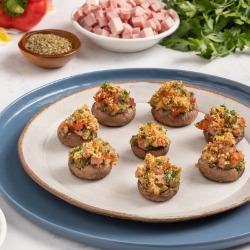 Ham-Stuffed Mushrooms