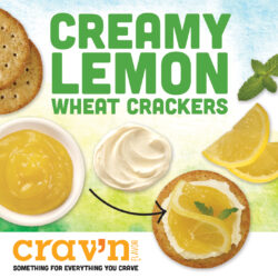 Creamy Lemon Wheat Crackers