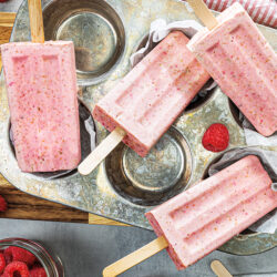 Raspberry Yogurt Pistachio Pops