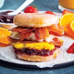 Monte Cristo Donut Breakfast Sandwich